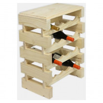 NATURAL CUSTOM 16 BOTTLE MODULARACK® WITH TABLE TOP 4H x 4W