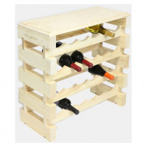 NATURAL CUSTOM 24 BOTTLE MODULARACK® WITH TABLE TOP 4H x 6W
